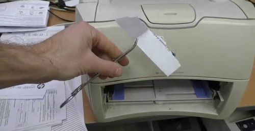 Извлечение застрявшей бумаги