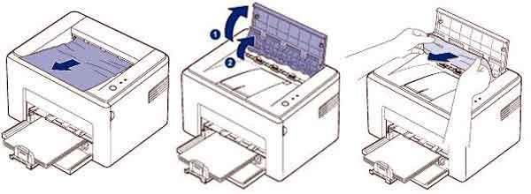 Что делать, если застряла бумага в принтере