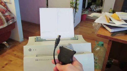 Подключение принтера HP Laserjet