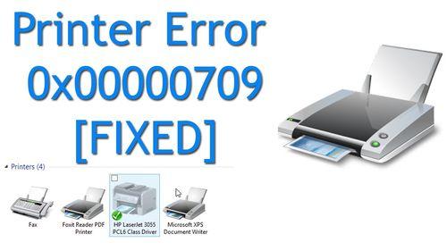 Ошибка принтера 0x00000709