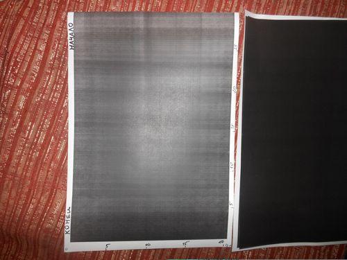 Черный лист на выходе