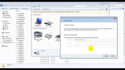 Функции и подключение принтера Ricoh Aficio