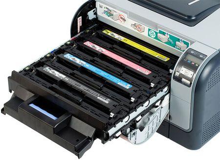 Цветные картриджи в лазерном принтере