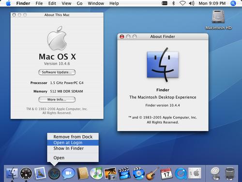 MacOS 10.4