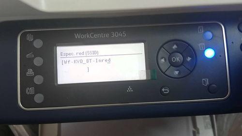 Панель управления принтера Xerox Workcentre 3045