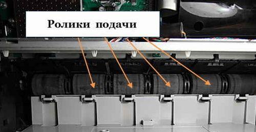 Ролики подачи и вывода бумаги