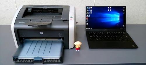 Ноутбук и принтер