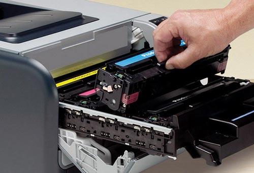 Почему горит красный индикатор принтера Ricoh