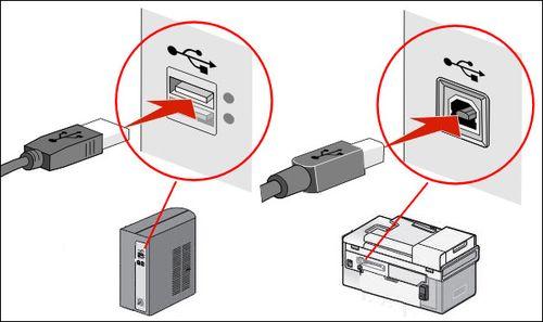 Подключение принтера через USB