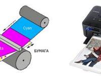 Принцип сублимационного принтера