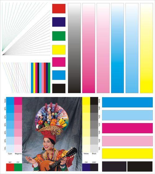 Изображение 3: для проверки качества печати шестицветных систем