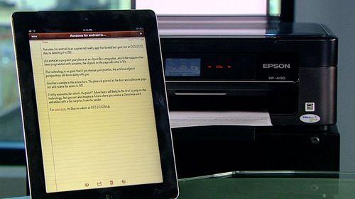 Принтер и планшет