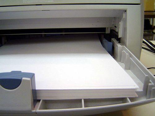 Листы в принтере