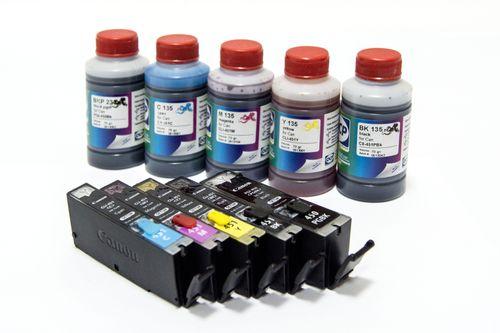 Разноцветные краски для принтера